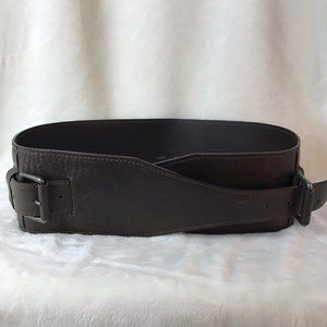 MaxMara Brown Leather Wide Belt L